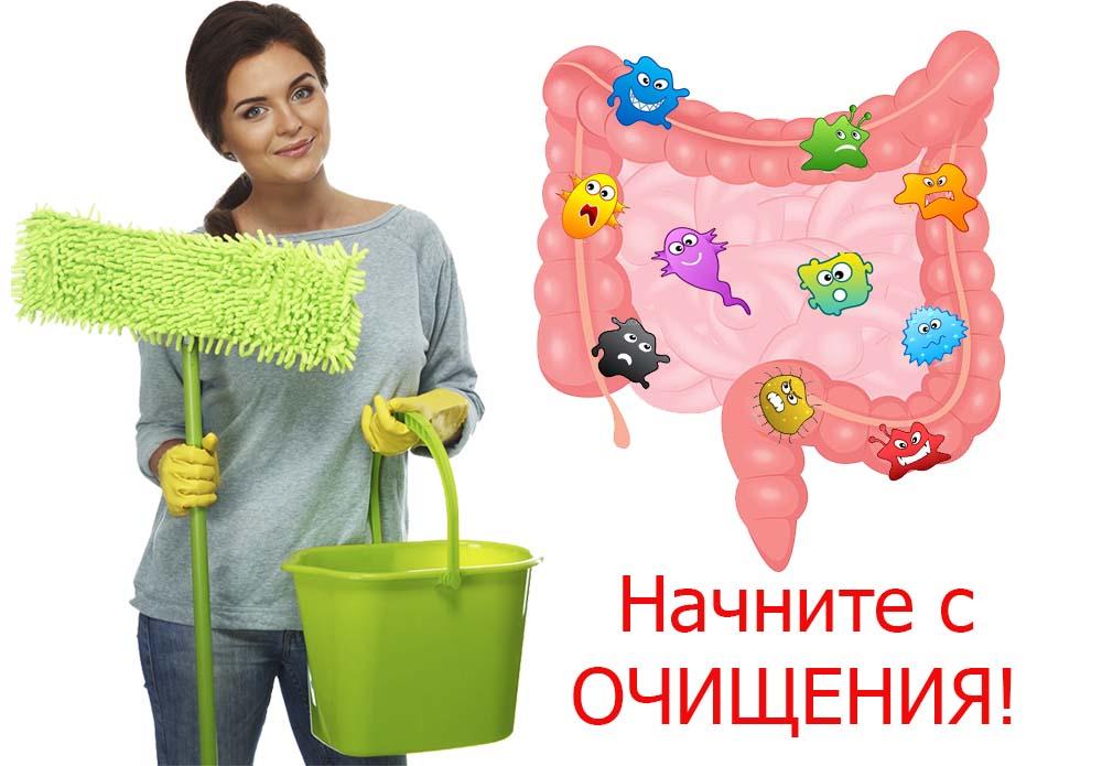 Очищаем организм и избавляемся от лишних кг