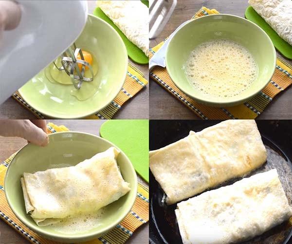 блинчики из лаваша с сыром на сковороде