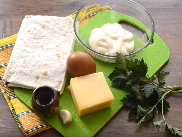 блинчики из лаваша с сыром