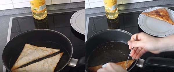 блины из лаваша с мясной начинкой на сковороде
