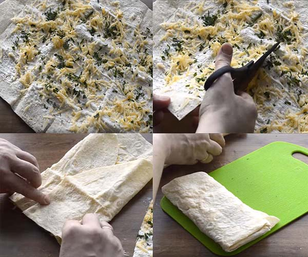 блины из лаваша с сыром на сковороде