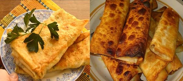 блины из лаваша с сыром