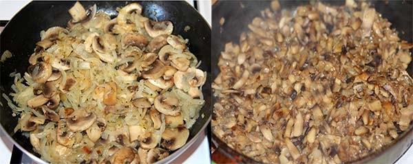 блинчики с грибами яйцом луком