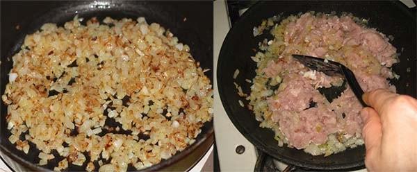 блинчики с мясом яйцом