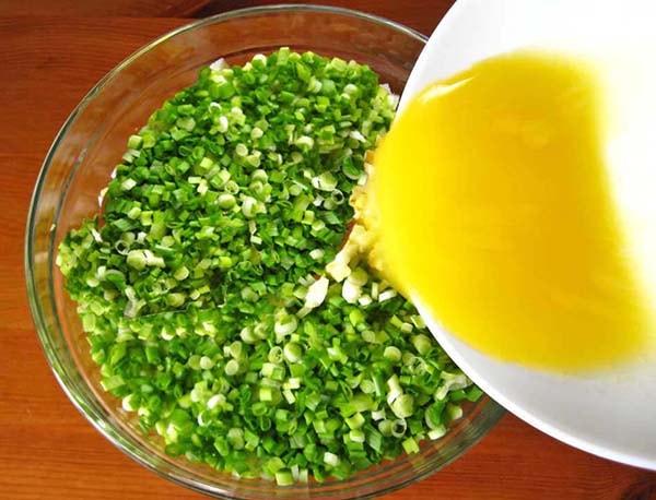 блинчики с яйцом и зеленым луком рецепт