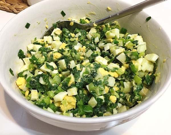 блины с яйцом и зеленым луком рецепт