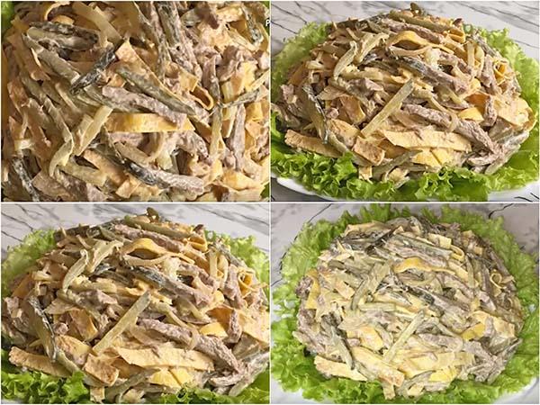 министерский салат рецепт с блинами