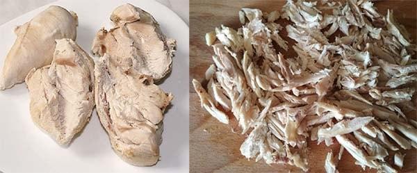 министерский салат с курицей блинами