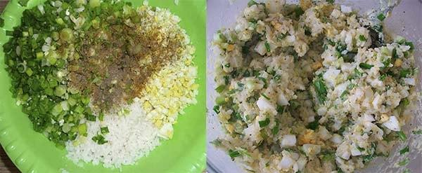 начинка для блинов из яиц и риса