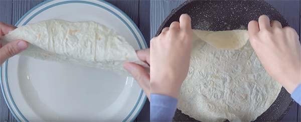 яичница-в-лаваше-на-сковороде-с-сыром-2