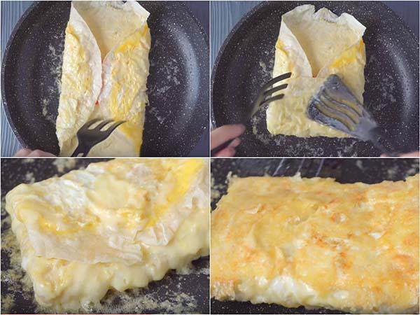 яичница-в-лаваше-на-сковороде-с-сыром-5