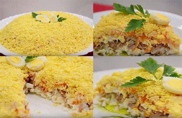 мимоза-салат-с-консервой-сайрой-7