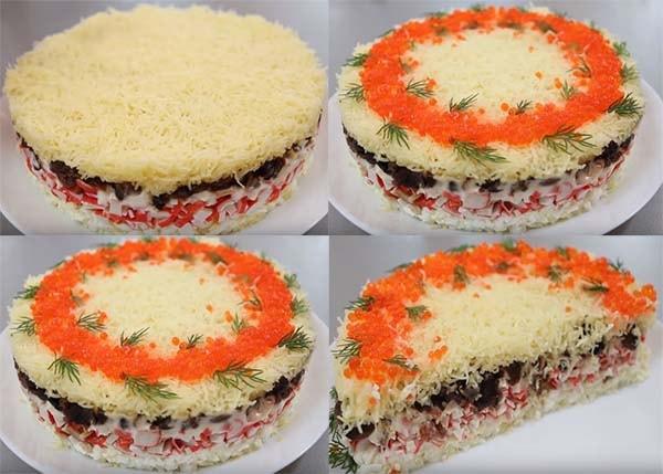 салат-мимоза-с-крабовыми-палочками-и-красной-икрой-9
