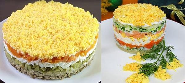 салат-мимоза-с-семгой-и-сыром-4