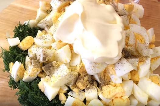 салат-подснежник-с-сыром-и-зеленью-5