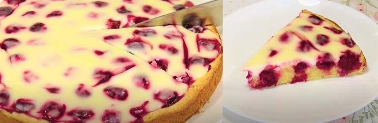 вишневый-пирог-со-сметанной-заливкой-10