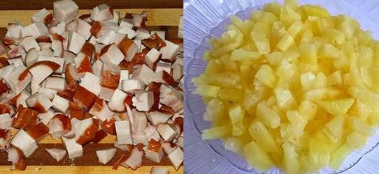 салат-подсолнух-с-курицей-ананасами-и-чипсами-2