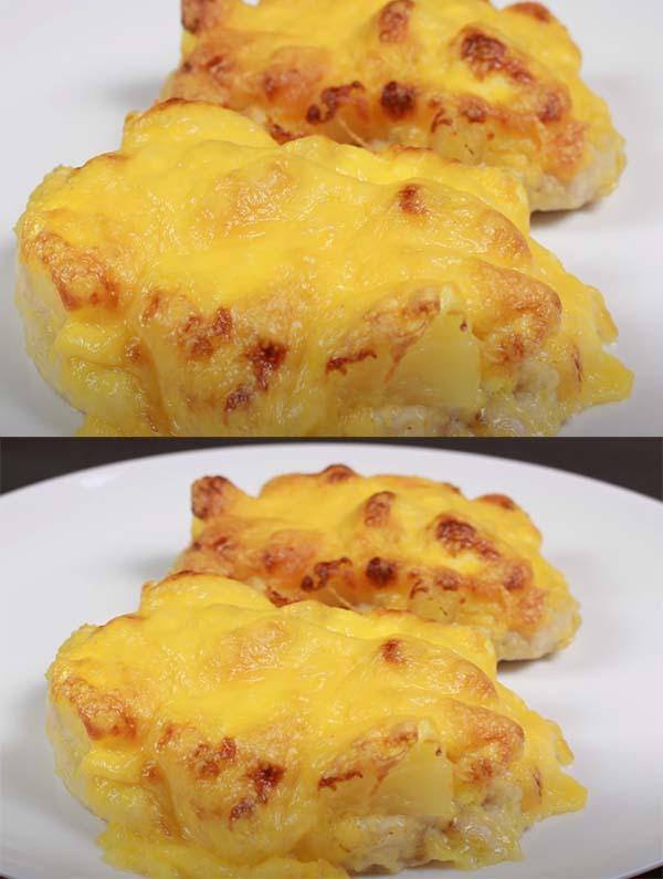 запеченная-курица-с-ананасами-сыром-в-духовке-6