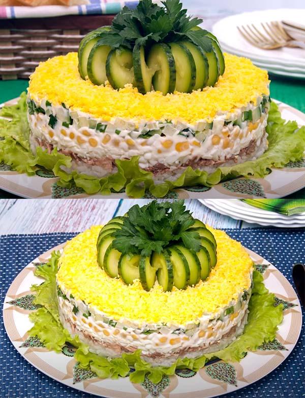 салат-из-печени-трески-с-рисом-и-кукурузой-11