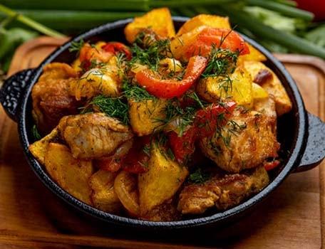 свинина-с-картошкой-в-духовке