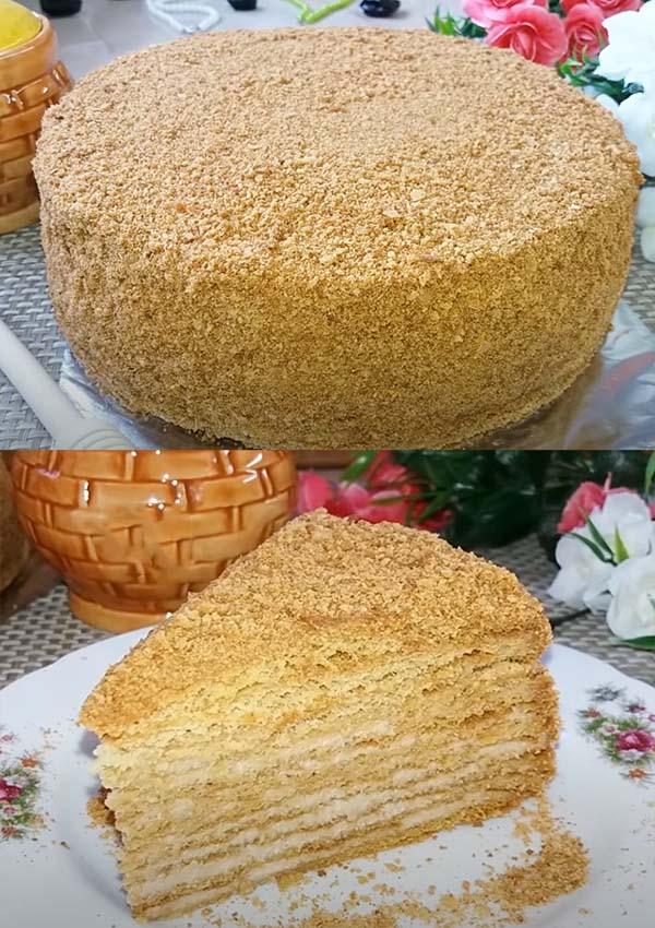 торт-медовик-со-сгущенкой-21
